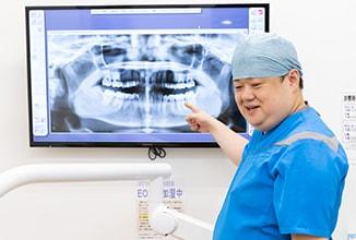 口腔内状態と治療計画の説明入